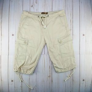 Prana | Cream Cargo Shorts w/Drawstrings